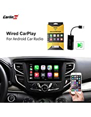 Carlinkit Wired CarPlay Dongle Android Auto for Car Radio with Android System Version 4.4.2 and Above, Install The AutoKit app in The Car System, Dongle Connect The Car's AutoKit app to get CarPlay