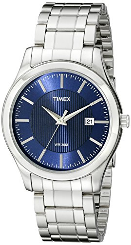Timex Men's T2N9769J Elevated Classics Stainless Steel Bracelet Watch