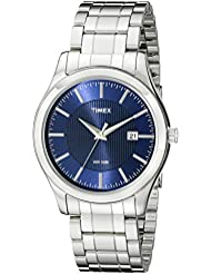 Timex Mens T2N9769J Elevated Classics Stainless Steel Bracelet Watch