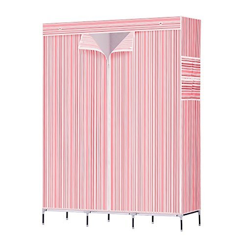 NEX Wardrobe Portable Closet for Bedroom with Cover to Prevent from Rust Portable Non Woven Fabric Wardrobe