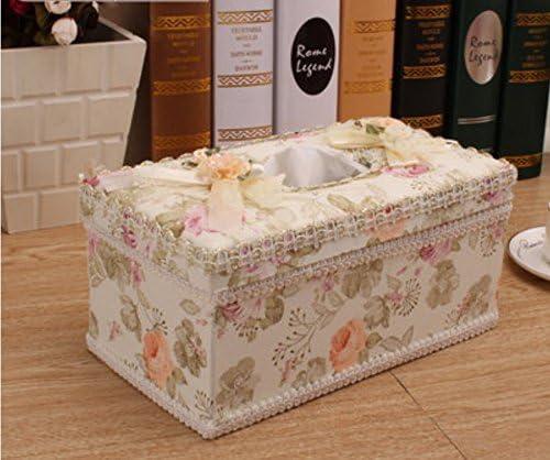 A rosas amarillas de caja para pañuelos Kleenex tejido facial ...