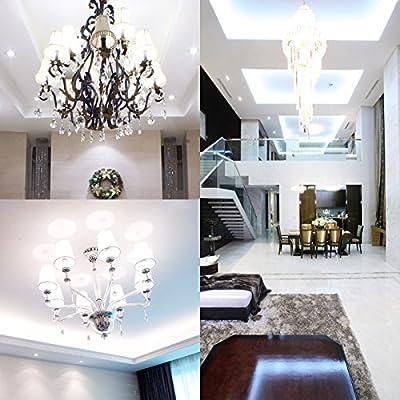 HzSane Candelabra LED Bulbs, 12W Daylight White 6000K LED Candle Bulbs, 85-100 Watt Light Bulbs Equivalent, E12 Candelabra Base,1200 Lumens LED Lights, Not dimmable. (Pack of 3)