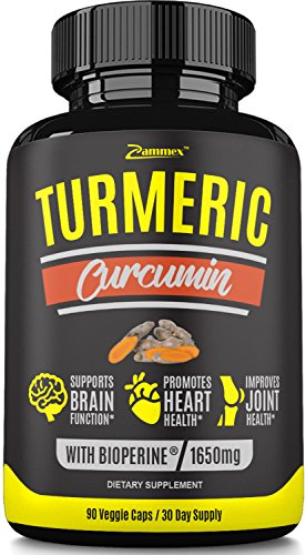 Premium Turmeric Curcumin with Bioperine Black Pepper for Best Absorption-Joint Pain Relief, Anti-Inflammatory, Antioxidant Supplement with 95% Standardized Curcuminoids. Non-GMO, Made in US, 90 Caps