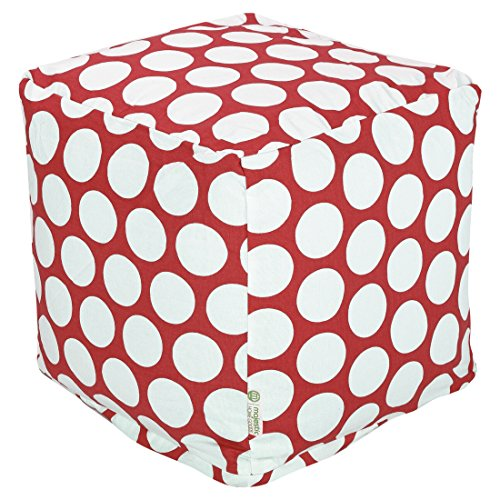 Majestic Home Goods Red Hot Large Polka Dot Cube, Small by Majestic Home Goods