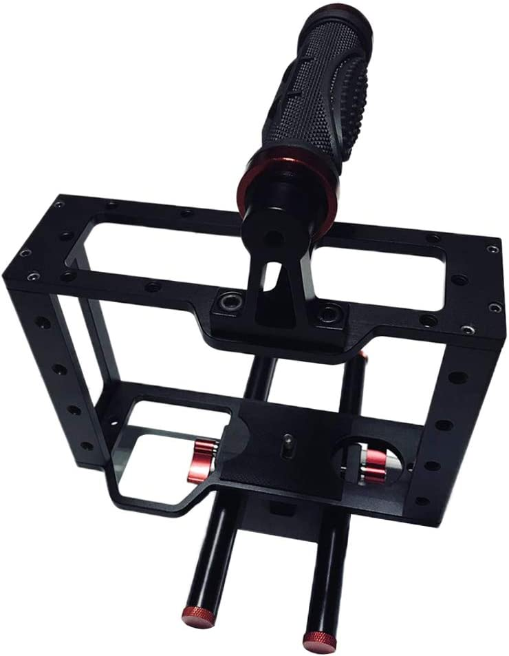 gazechimp DSLR Rig Camera Video Cage Bracket with Hand Grips for DV Video Cage Rig