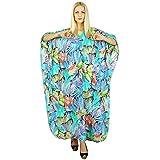 Kokom Bohemian Long Kaftan Women Maxi Nightwear Printed Dress Cotton Caftan