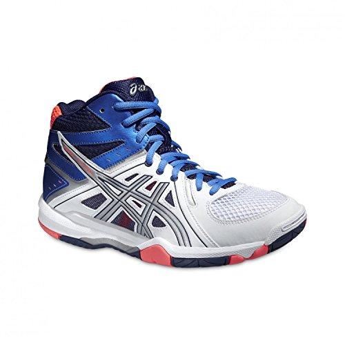 Asics Gel-task Mt - Zapatillas de deporte Mujer WHITE / POWDER BLUE / FLASH CORAL