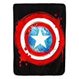 Captain America,Shield Micro Raschel Throw Blanket, 46'' x 60''