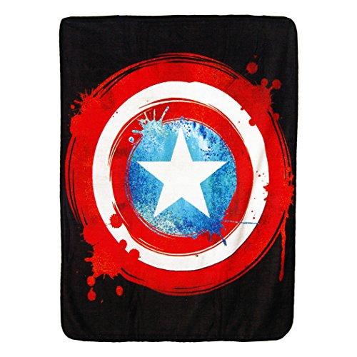 Captain America,Shield Micro Raschel Throw Blanket, 46'' x 60'' by Marvel