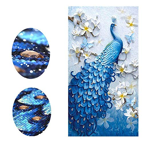 Special,Shaped,Diamond Embroidery,Peacock,Animal,Diamond Painting,Flower,Full,Rhinestone,Diamond Mosaic,Cross Stitch,Decor,Paint by Number Kits ()