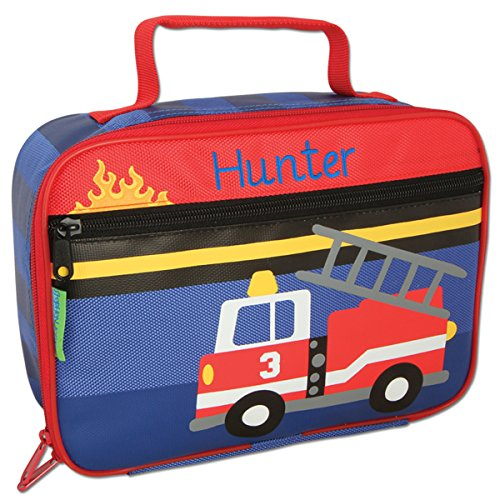 Personalized Stephen Joseph Firetruck Lunch Box with Embroidered ()