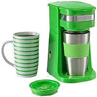 HOBERG Café-BoXX, Single Kaffeemaschine inklusive Thermobecher und...