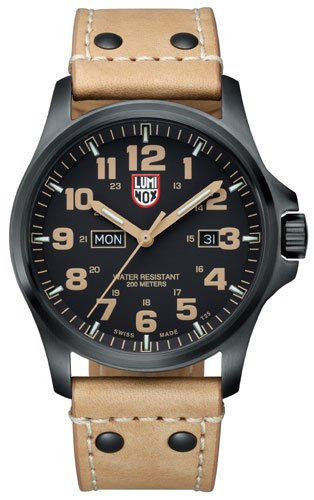Luminox 1925 45mm Stainless Steel Case Beige Leather Anti-Reflective Sapphire Men's Watch