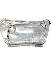 Party Fanny Pack with 42 Inch Adjustable Belt Buckle and Two Zipper Compartments - Waterproof Material Waist Bag
