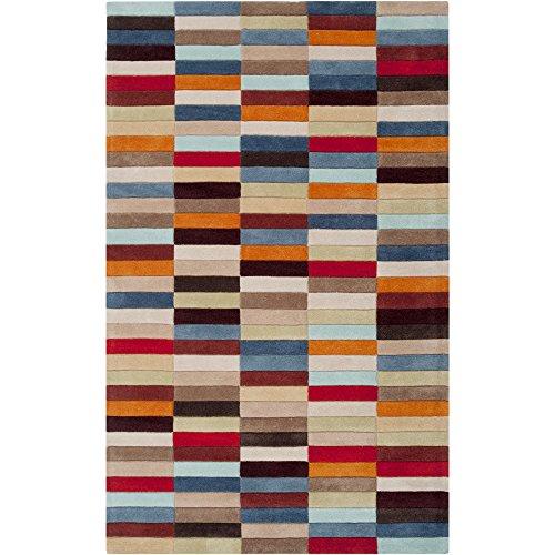 (Surya Cosmopolitan COS-9092 Contemporary Hand Tufted 100% Polyester Bronze 9' x 13' Geometric Area Rug)