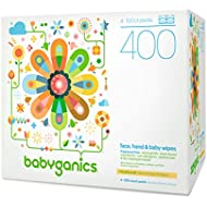 Babyganics Face, Hand & Baby Wipes, Fragrance Free,...
