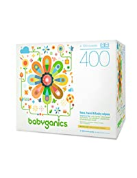 Babyganics Face, Hand & Baby Wipes, Fragrance Free, 400 Count (Contains Four 100-Count Packs) BOBEBE Online Baby Store From New York to Miami and Los Angeles