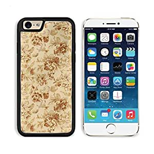 Vintage Floral Pattern Flowers Yellow Background Punktail's Collections iPhone 6 Cover Premium Aluminium Design TPU Case Open Ports Customized Made to Order