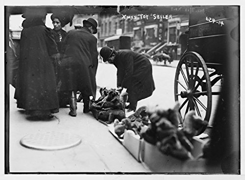 8 x 10 Vintage Photo of: Vendor of Christmas toys 6th Ave. New - Ave 6th York New