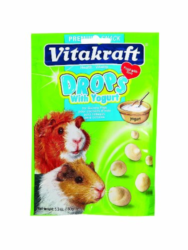 Vitakraft Guinea Pig Drops with Yogurt Treat, 5.3 Ounce Pouch