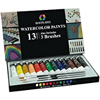 AEM Hi Arts 13 Watercolors Painting Kit with 3 Brushes