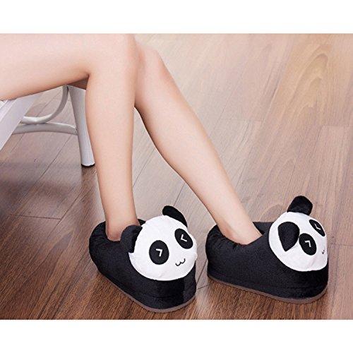 Panda 35 pantoufles mignonne 39 pattern animé chaussures chaud taille intérieur Gosear doux hiver femmes dessin filles qYxH1Hg6