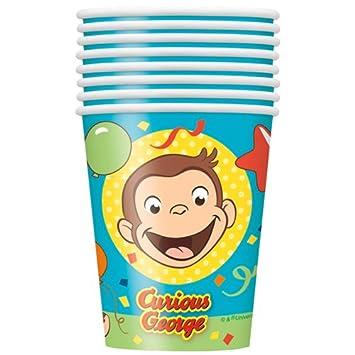 Amazon.co.jp: おさるのジョージ ペーパーカップ 8個入り 紙