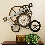Vory Old Fashioned Wall Clock Metal Rustic Modern Industrial Steampunk Bedroom Decor 100x82cm 8