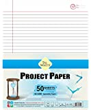 Taj-White Project Paper 28 * 22 cm - Both Side Ruled Pg 50