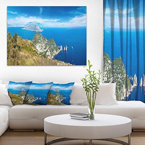 Capri Island in Italy Photography Canvas Art Print