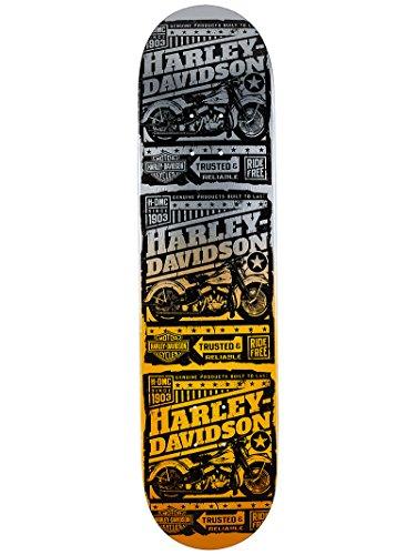 Darkstar Harley-Davidson Ride Free Skateboard Decks,7.875,Orange - Darkstar Decks