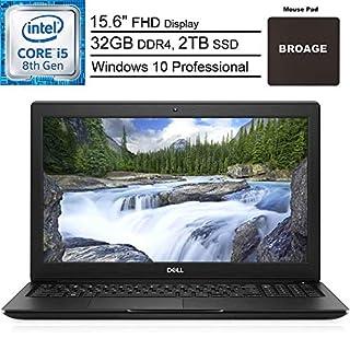 "Dell Latitude 3500 Business Laptop Computer_ 8th Gen Intel Quad-Core i5-8265U (Beat i7-7500U)_ 15.6"" FHD_ 32GB DDR4 RAM_ 2TB SSD_ 802.11ac WiFi_ Windows 10 Professional_ BROAGE Mouse Pad"