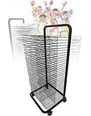 Drying Rack, Mobile Art Drying Rack with Wire Shelves for Works of Art, Art Studio, Black Powder Coated Finish,Ideal for Schools and Art Clubs (Size : 35-Layer)