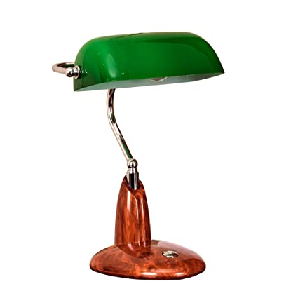 Xiangyu Desk lamp Antique Traditional Banker's table Lamp e27,glass shade  green,Retro table - Amazon.com: Xiangyu Desk Lamp Antique Traditional Banker's Table