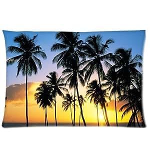Palm Trees California (2) Pillowcases 20x30 Inch