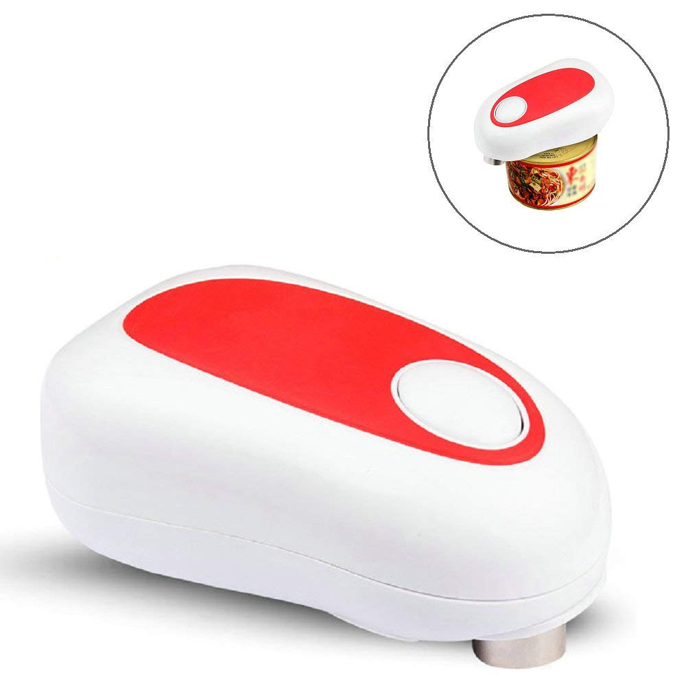 GuDoQi Electric Can Opener Smooth Edge Automatic Jar Opener One-Touch Start Hands Free Tin Opener Perfect for Kitchen and Restaurant
