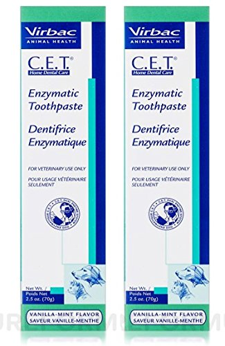 CET Enzymatic Toothpaste, 2.5 Ounce, Vanilla-Mint Flavor, 2 Pack by CET