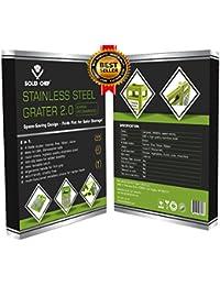 Buy Food Grater - Best 4-in-1 Mini Box Stainless Steel Kitchenaid Set - Grater, Slicer, Shredder & Zester - Today... deal