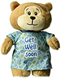 """11"""" PLUSH Get Well Soon BEAR with HOSPITAL GOWN Open in Back"""