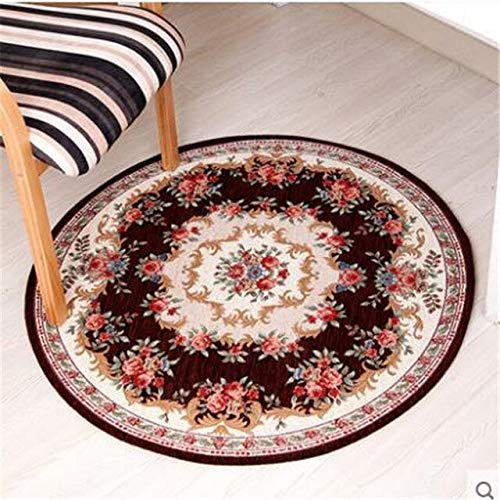 BeesClover Round Carpet Living Room Carpet Swivel Chair Computer Chair Hanging Household Dining Room Bedroom Carpet red 029 90cm Round by BeesClover (Image #4)