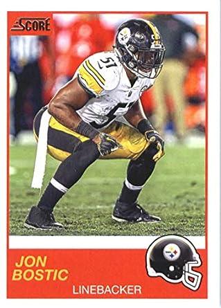sports shoes fbd40 e057e Amazon.com: 2019 Score Football #120 Jon Bostic Pittsburgh ...