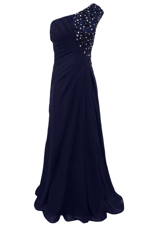 Sunvary Elegant Full-Length Chiffon One-Shoulder Evening Dress Party Dress Maxi