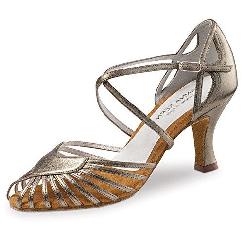 Anna Kern - Mujeres Zapatos de Baile 641-60 - Cuero Antiquo - 6 cm Antiquo