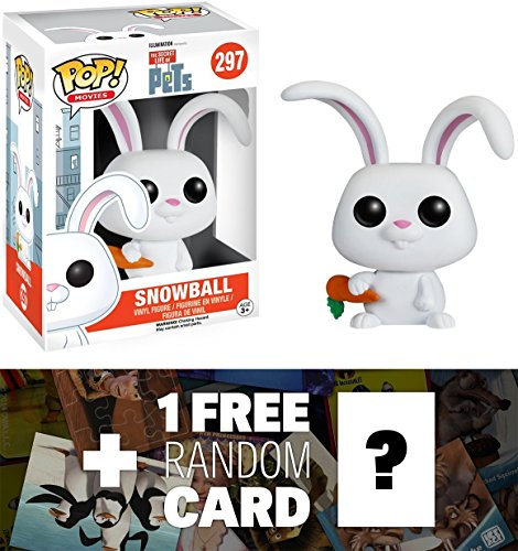 Snowball: Funko POP! x The Secret Life of Pets Vinyl Figure + 1 FREE CG Animation Themed Trading Card Bundle (089139)