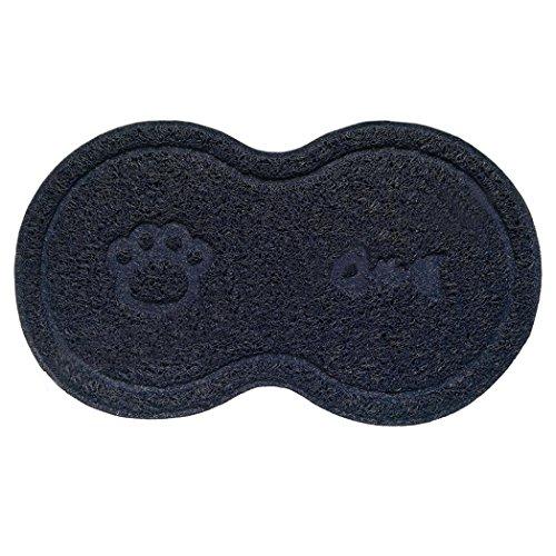 Yamalans Creative Bone Shape Pet Food Tray,Non-slip Dog Cat Food Mat Feeding Mat Pad (Navy Blue) (Mats Dog Feeding Personalised)