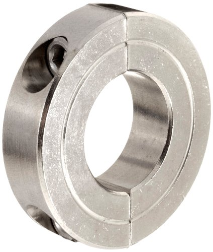 Climax Metal H2C-100-S Shaft Collar, Two Piece, Clamp Style, Stainless Steel, 1