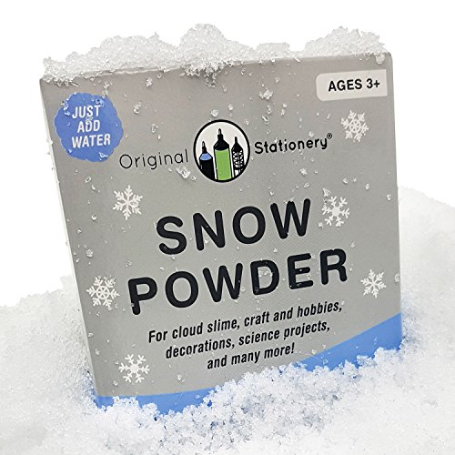 Instant Snow Powder [2 gallons] Creates Slushie Fake Snow. Use with Slime, Daiso Clay and Floam Beads to Make Cloud Slime. Discover The Wonders of Sodium Polyacrylate Powder ()