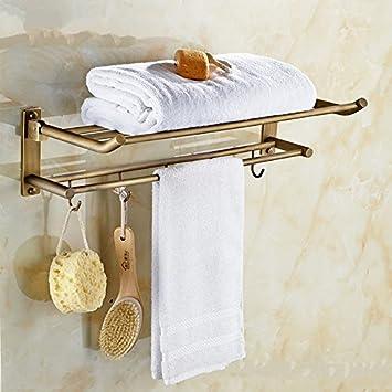 KIEYY Todas Las Actividades Del Cobre Antiguo Baño De Doblado De Toallas De Baño De Antigüedades