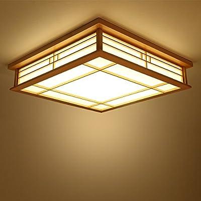 Lyxg Plafonnier Japonais En Bois Led Lampes Lampes Lumiere Tatami