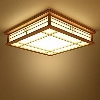 Lyxg Japanische Deckenleuchte Led Lampen Massivholz Tatami Licht Lampen Japanische Wohnzimmer Licht 350mm 350mm 120mm Schlafzimmer Balkon Protokolle